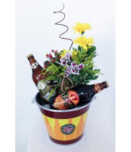 Balde Mr Beer com Flores